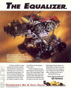 TRD 4A-GE 240hp dry-sump, ITB race engine as used in Toyota Atlantic Championship