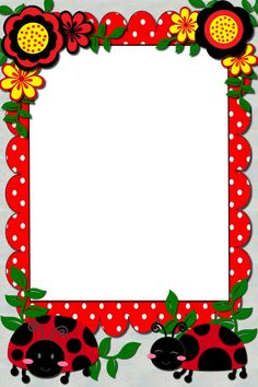 Boarders And Frames, Framed Wallpaper, Christmas Frames, Classroom Crafts, Border Design, Scrapbooking Layouts, Clip Art, Symbols, Ladybugs