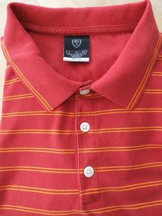Get ready for the course! NIKE DRI FIT red golf / polo shirt size XL in mercerized cotton. Feels great! #NikeDriFit #PoloRugby