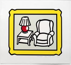 Roy Lichtenstein - Red Lamp | 1stdibs.com
