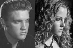 Elvis and his granddaughter Riley Keough - talk about genes.