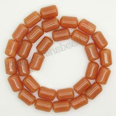 Gemstone Beads, Red Aventurine, Smooth tube, Approx 8x12mm, Hole:Approx 1mm, Sold per 16-inch strands