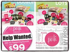 Want to be your own boss and have your own career doing something you love? Perfectly Posh can give you the financial freedom to do anything you choose! www.perfectlyposh.com/18566