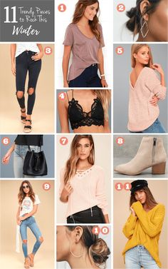 11 trendy pieces to rock this winter #wardrobebasicsforfall
