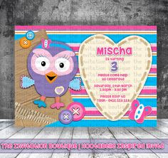 Really Cute! I looove these!!!  Hootabelle Inspired Invitation   Giggle by TheInvitationBoutiqu, $12.50