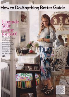moments of domestic bliss with Charlotte Ronson {Via Glamour Magazine}