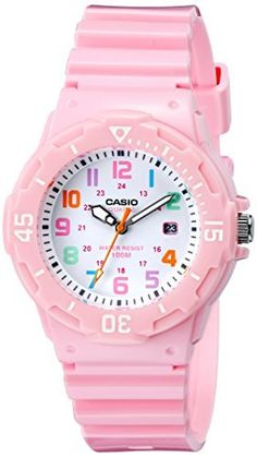 Casio Women's LRW-200H-4B2VCF Pink Stainless Steel Watch with Resin Band //Price: $18.24 & FREE Shipping //     #hashtag3