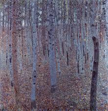 Gustav Klim 'Buchenhain' Oil on Canvas Art by YGC