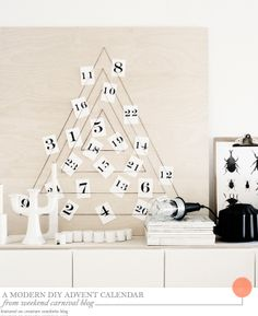 One Good Thing: A Modern DIY Advent Calendar - Home - Creature Comforts - daily inspiration, style, diy projects + freebies