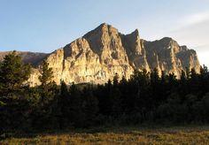 #hiking #montana Apikuni Mountain in Many Glacier, Glacier National Park, Montana, USA