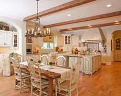 Create A Classic French Rustic Country Style Kitchen Design in the right way ~ Art Home Design Ideas
