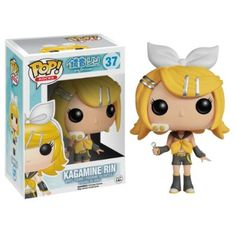 This Funko Pop! Vinyl figure styles Kagamine Rin as a chibi figure. Kagamine Rin is the twin sister of Kagamine Len, and they have become very famous as Yamaha Vocaloid synthesized singers. Figurines D'action, Anime Figurines, Pop Rocks, Funko Pop Figures, Vinyl Figures, Action Toys, Action Figures, Hades, Chibi