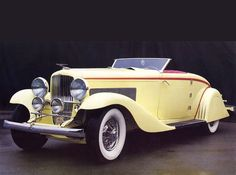 1932 Duesenberg Cabriolet By Bohman Schwartz Yellow