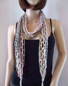 Schmuck Design, Crochet Necklace, Jewelry, Style, Fashion, Scarves, Kleding, Unique Bags, Hot Pink Fashion