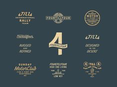 Fourtillfour designed by Jonathan Schubert. Connect with them on Dribbble; the global community for designers and creative professionals. Self Branding, Logo Branding, Branding Design, Portfolio Book, Portfolio Layout, Beautiful Lettering, Coffee Logo, Typo Logo, Vintage Labels