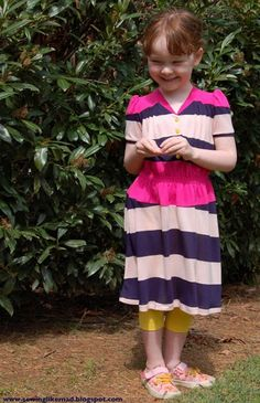 Cute girl summer dress :: free sewing pattern