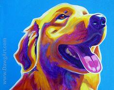 Goldendoodle Pet Portrait DawgArt Dog Art Pet by dawgpainter