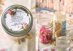 Homemade rose elixir