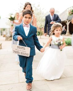 adorable pageboy and flowergirl at the beautiful @micklefieldhall #micklefieldhallwedding #micklefieldhall #outdoorceremonyuk