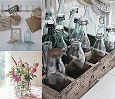 El reciclado está de moda, en este caso vemos cómo decorar con botellas de colores o frascos de conservas.