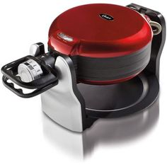 Red Oster Double Flip Belgian Waffle Maker from Walmart - $49.96