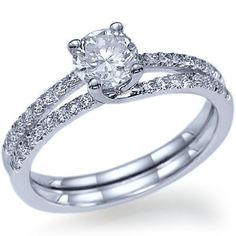 Diamond Engagement Ring Natural Round Cut Diamond 14k by ldiamonds, $1170.00