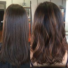 Chocolate Mocha Brown Hair Soft Balayage