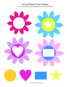 cut and paste flower shapes