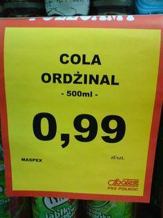 Cola ordżinal Polish Memes, Very Funny Memes, Man Humor, Good Mood, Haha, Jokes, Shrek, Cthulhu, Minecraft