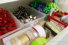 Organizing a Gift Wrapping Closet