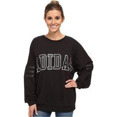 Adidas Donna Originale Logo Equipaggio Sudore Donna Adidas Nera Vector E Clip Art 9c3442
