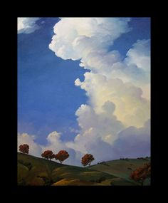 Impressionist Art Oil Landscape Western Sky  by ARTpaco on Etsy