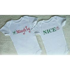 Christmas is right around the corner & this twin/sibling naughty and nice set is too cute! Get yours at Liv & Co. #Etsy #Handmade #LivAndCo