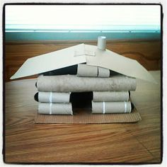 Tube House with flip up lid so that your child can decorate and play in the inside (this was used for a Pilgrim's house but can also be used for a unit study on Abraham Lincoln)