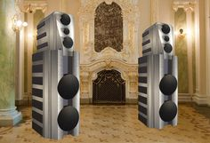 These are the world's most expensive home stereos. Hi-tech sound systems enhance your music listening experience immensely. Some of them are very expensive. Home Stereo Speakers, Hifi Audio, Wireless Speakers, Best Home Theater System, Home Theater Design, Expensive Houses, Most Expensive, Audio Room, Home Cinemas