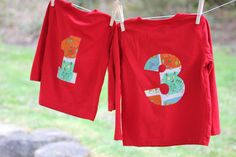 Repeat Crafter Me: No-Sew Birthday Number Shirts