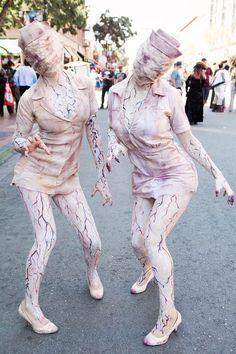 Silent Hill nurse costumes @ Comic-Con 2015