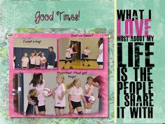 Volleyball Digital Scrapbook given as an end of season gift to team  Digital Memories by Stacey