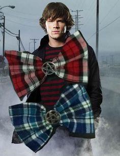 Supernatural Sam Winchester Inspired Hair Bow- Plaid