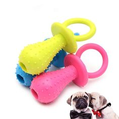 Rubber Pacifier for Pet Dog Cat Puppy Chew Toys with Bell Sound Inside Pet Dogs, Dog Cat, Pets, Doggies, Puppy Chew Toys, Interactive Dog Toys, Cleaning Toys, Dog Teeth