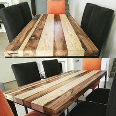 Recycled wood table Tavolo da pranzo fatto con legno di recupero