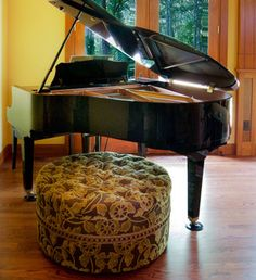 Other Furniture In Living Room With A Baby Grand Piano