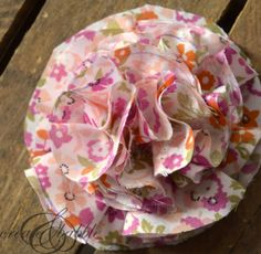 Fabric Flower Baby Headbands - Create and Babble