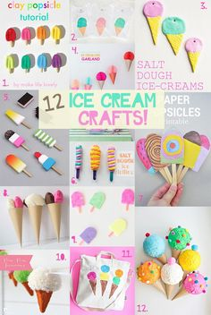 Lots of ice-cream craft ideas, they look almost good enough to eat!