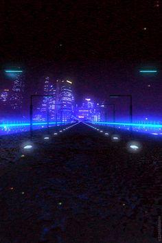 Retro futuristic gifs by Kidmograph