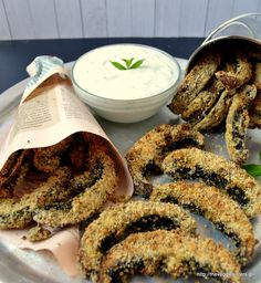 Vegan baked portobello fries! A tasteful and heallthy appetizer!