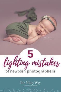 5 Common Lighting Mistakes of Newborn Photographers -The Milky Way Newborn Photography Tips, Photography Tutorials, Light Photography, Newborn Photographer, Children Photography, Photography Ideas, Newborn Pictures, Baby Photos, Newborn Pics