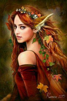 fluffy ears female elf