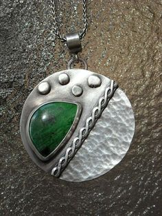 Maw Sit-Sit Jade Sterling Silver Pendant Necklace