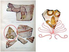 Pomul vieţii sub forma palmetei este reprezentat pe un fragment de ceramică pictată, descoperit pe una din terasele cetăţii dacice Sarmizegetusa Regia.